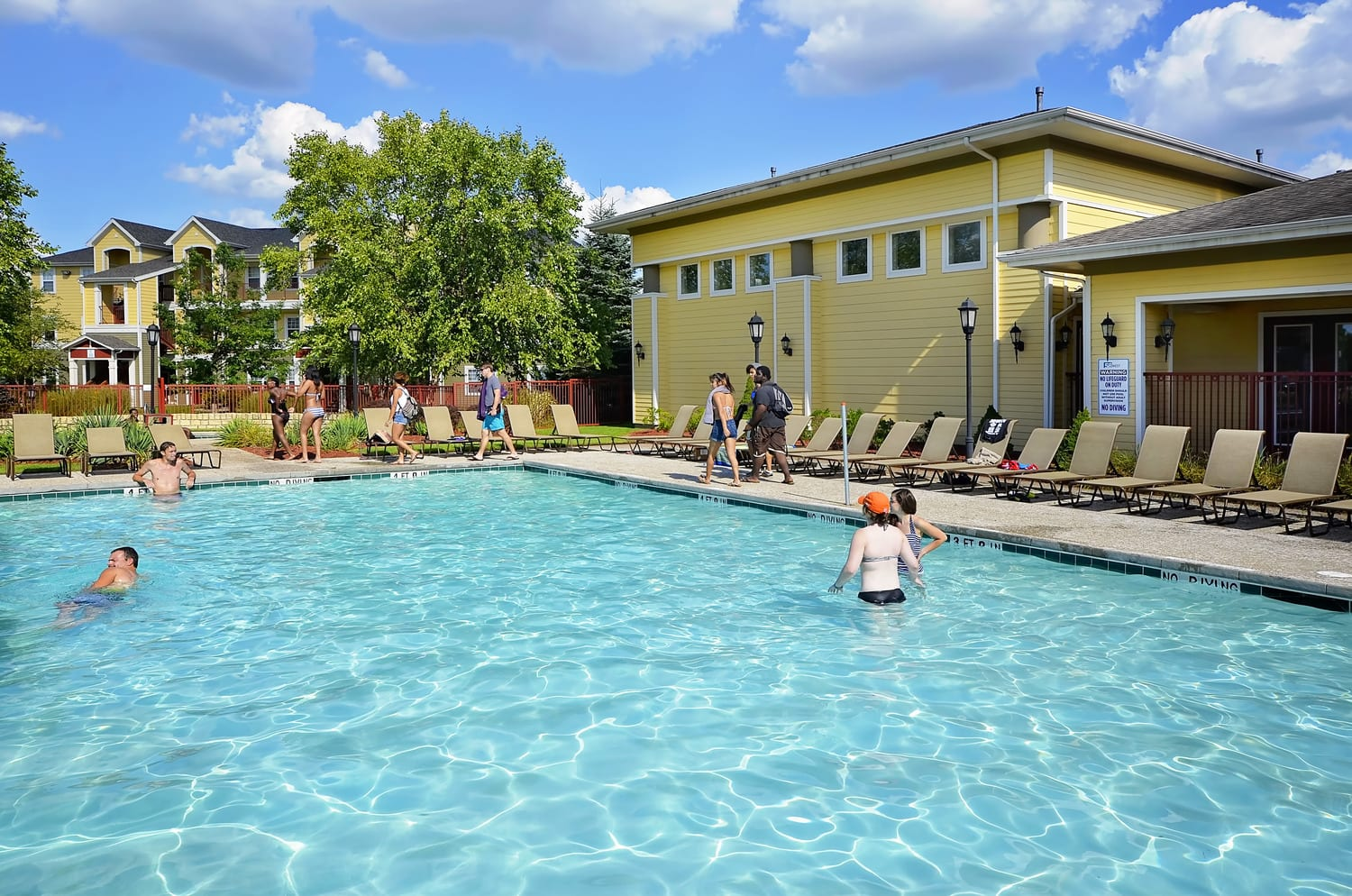 Pool At off-Campus Student Housing
